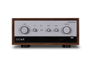 Leak Stereo 130 Integrated Amplifier - Silver & Walnut - Front