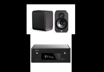 Denon Ceol N10 Black + Q Acoustics 3020 Graphite