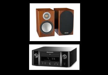 Marantz M-CR612 Melody & Monitor Audio Silver 50 Package