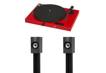Project Jukebox E Red + Bowers & Wilkins 607 Matte Black
