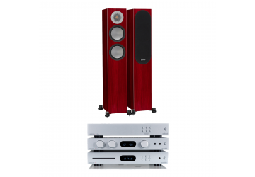 Audiolab 6000A, 6000CDT, 6000N & Monitor Audio Silver 200 Package