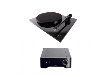 Rega Brio & Rega P1 Turntable - Black