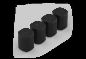Four Room Set with Sonos One - Black