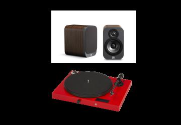 Project Jukebox E Red + Q Acoustics 3010 Walnut