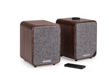 Ruark Audio MR1 (Mk II) Active Speakers walnut