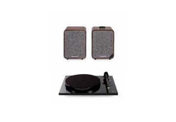 Rega P1 Plus Black + Ruark MR1 Mk IIWalnut