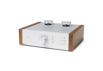 ProJect Tube Box DS2 - Silver & Walnut - Front