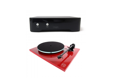 Rega Planar 3 Turntable Red With Neo Power Supply