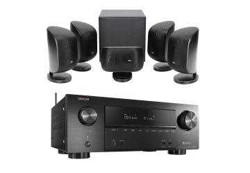 Denon AVR-X2500 AV Receiver + Bowers & Wilkins MT-50 Speaker - Black