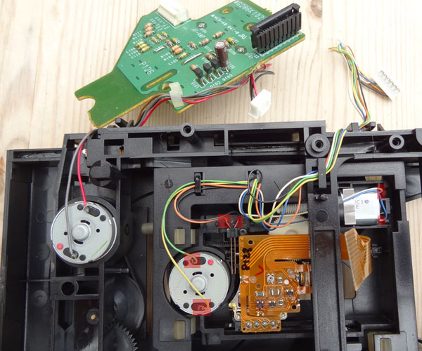 Desoldering the motor control wires